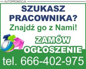 Reklama na temat możliwości zamieszczenia ogłoszenia o pracę